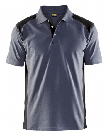 Blaklader 3324 Pique 2 Colour Polo Shirt (Grey/Black)